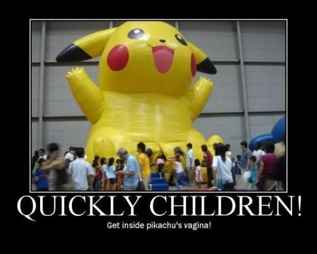 Meme de la vagina de Pikachu inflable