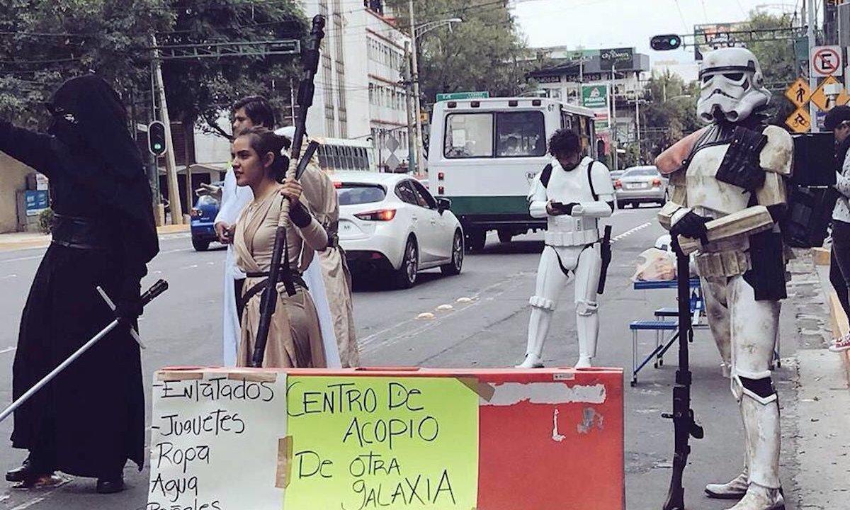 Star Wars ayudan en centros de acopio