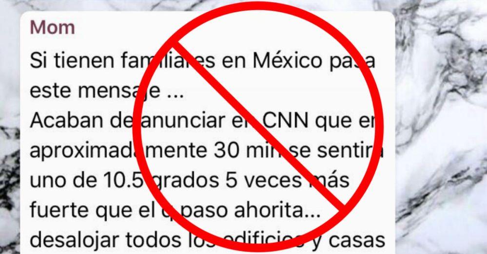 Noticias falsas sobre el sismo del 19 de septiembre en México