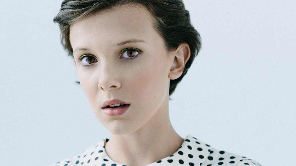 Retrato de la actriz de Stranger Things, Millie Bobby Brown