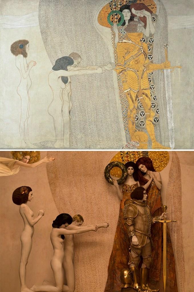 Pinturas de Klimt hechas fotografías