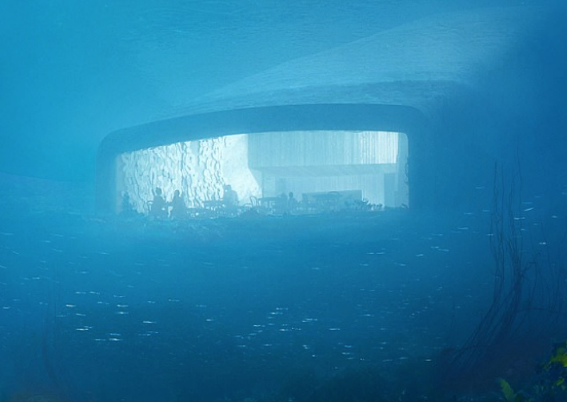Restaurante Submarino, Restaurante, Submarino, Under, Noruega, Mar