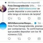 Bancomer le contesta a Puta Desagradecida