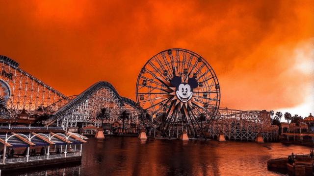 Incendios de California le dan un toque apocalíptico a Disneyland
