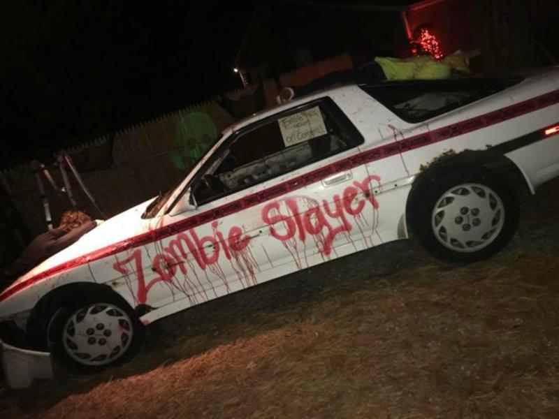 Decoraciones para Halloween, Escena del Crimen, Halloween, Zombies, Policía, Choque