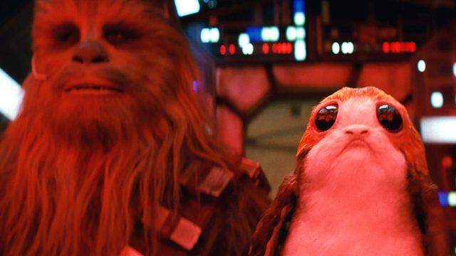 Star Wars The Last Jedi, Chewbacca y porg
