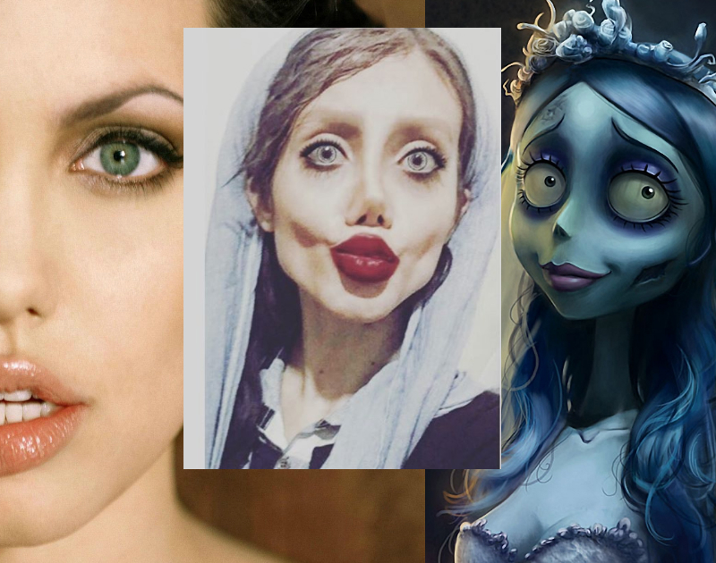 Angelina Jolie, Cirugías Plásticas, Sahar Tabar, Photoshop, Maquillaje, Fake