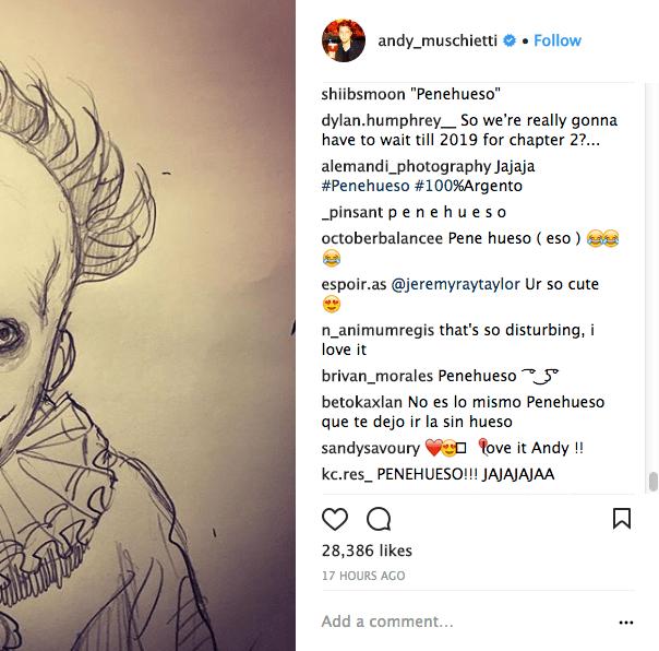 Comentarios sobre boceto de Andy Muschietty