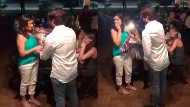 Mujer rechaza romántica propuesta de matrimonio