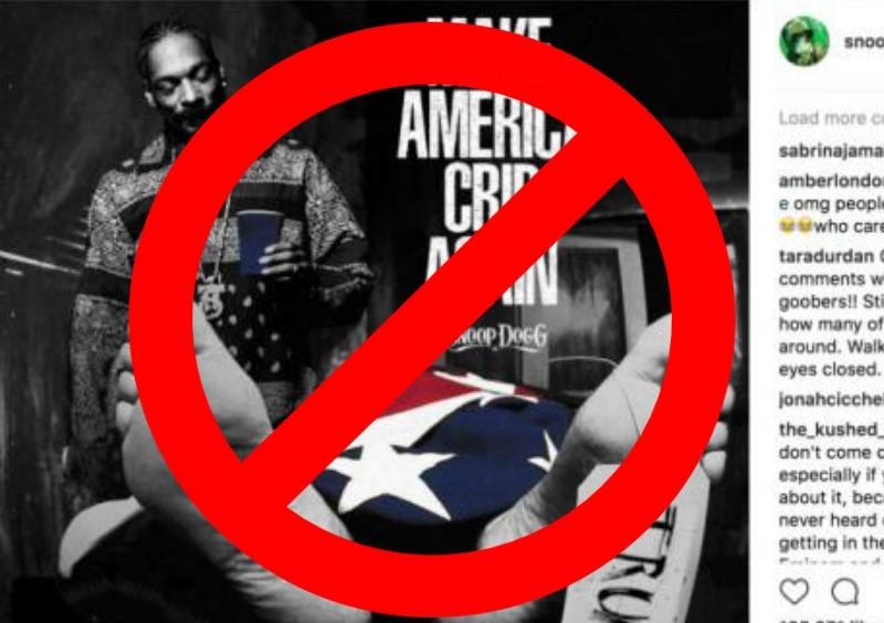 Make America Crip Again, Snoop Dogg, Donald Trump, Trump, Snoopy, Muerto