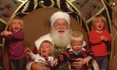 Niños que no querían tomarse una foto con Santa Claus