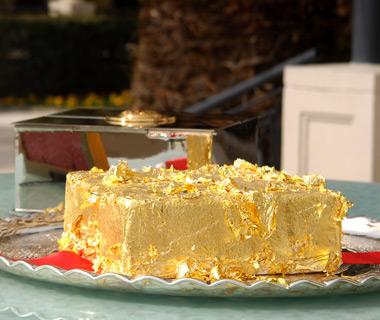 Pastel dorado del Sultán