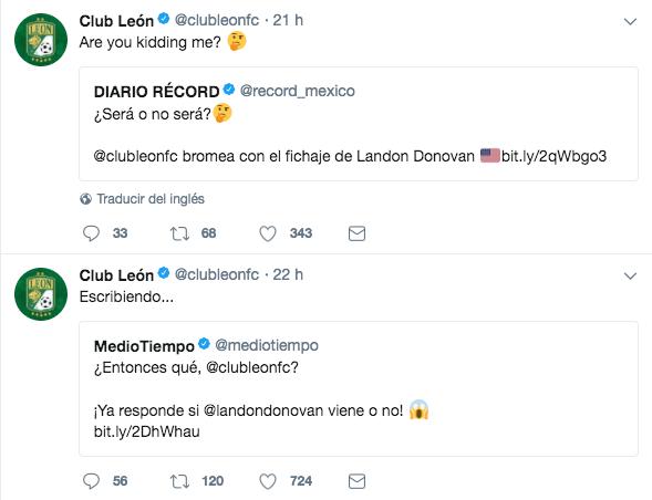 León Landon Donovan Twitter troll Estados Unidos rumores