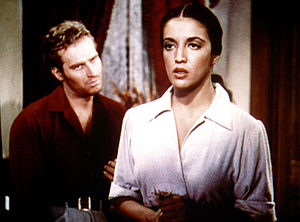 Katy Jurado, Actriz Mexicana, con Charlton Heston