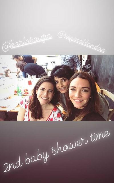 Segundo baby shower de Aislinn Derbez, con Karla Souza, Regina Blandón