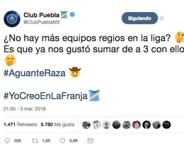 Equipo Perrito Redes Sociales Liga MX Puebla