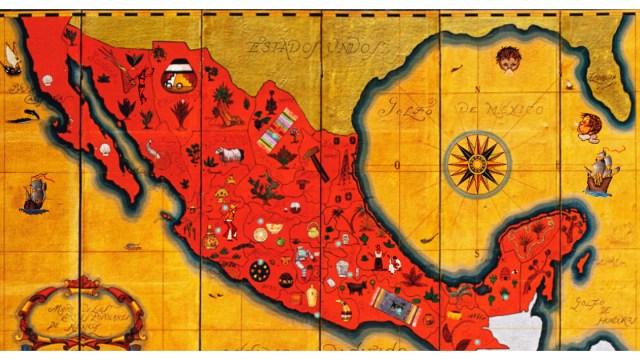 Mexico-mapa-artesanias-artes-populares