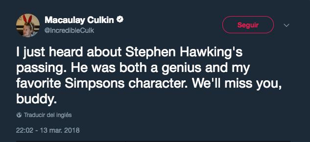 Macaulay Culkin twitter e