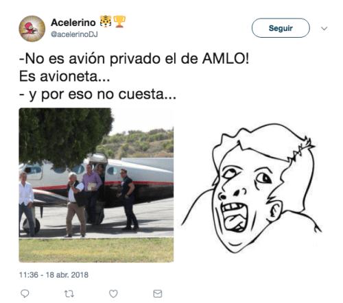 AMLO es criticado por rentar avioneta