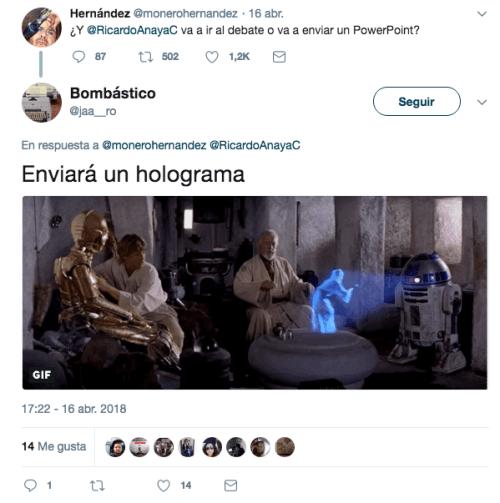 Ricardo Anaya hizo un holograma con su hijo
