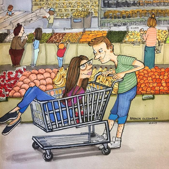 Ilustraciones-dibujos-relaciones-largas-parejas-reconoceran-tiernos-super-juntos