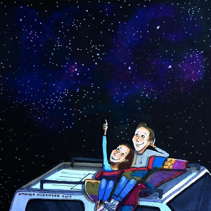 Ilustraciones-dibujos-relaciones-largas-parejas-reconoceran-tiernos-ver-estrellas