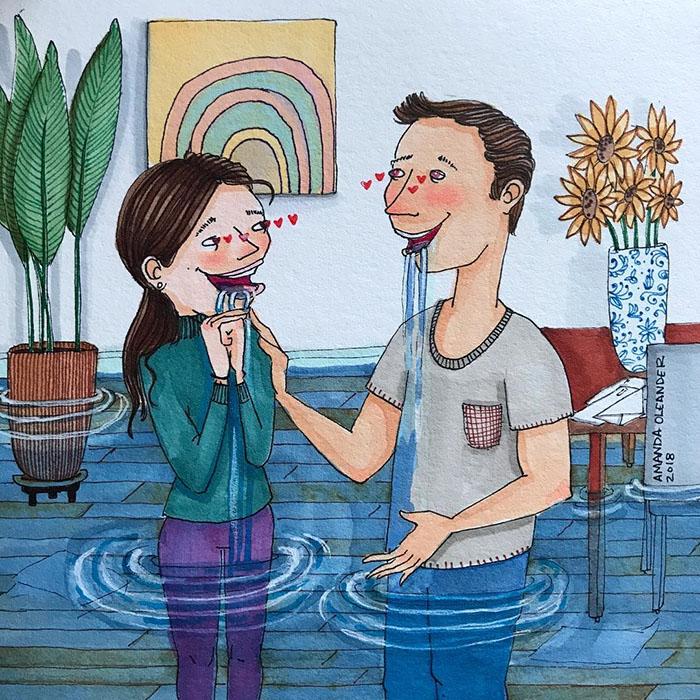 Ilustraciones-dibujos-relaciones-largas-parejas-reconoceran-tiernos-verse-babear