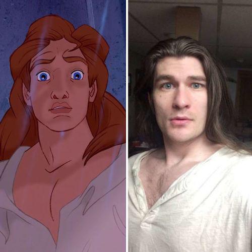 Hombre pierde 32 kilos y parece príncipe de Disney