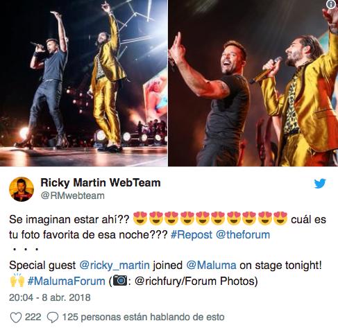 Maluma y Ricky Martin en Estados Unidos