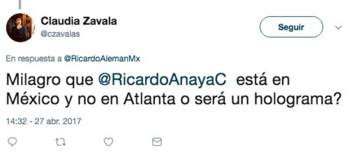 Ricardo Anaya hizo un holograma lol