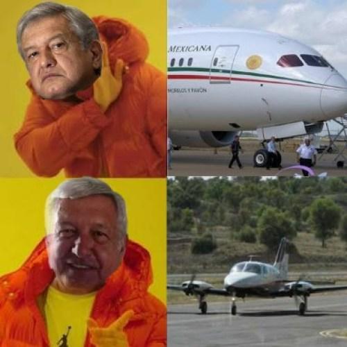 AMLO es criticado por renta de avioneta memes