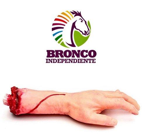 Bronco quiere mochar manos