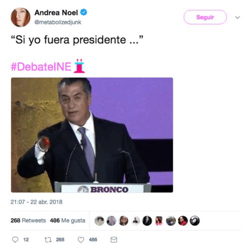 Bronco quiere mochar manos andrea noel