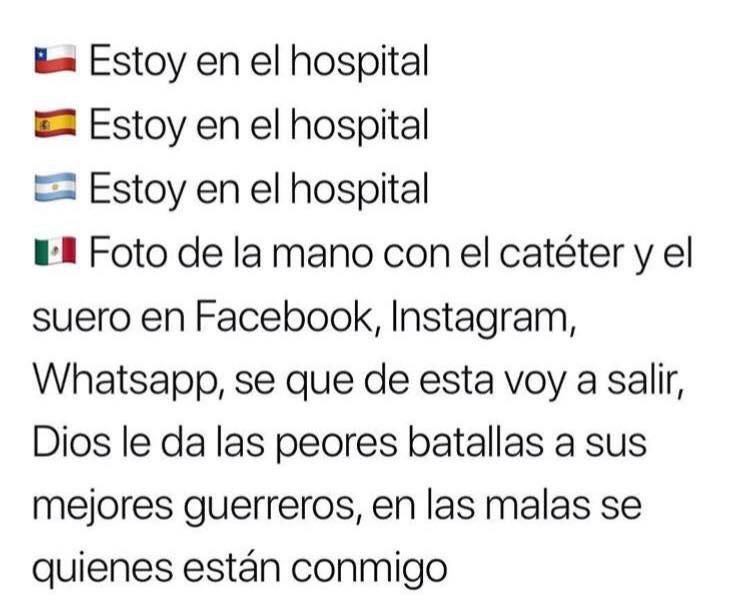 Meme de las banderitas como se dice hospital México
