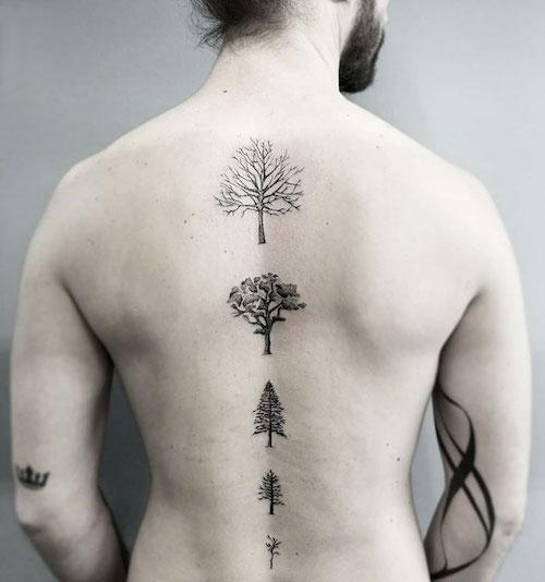 Tattoo En La Espalda Hombres Tattoo Design