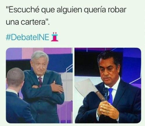 Memes amlo anaya cartera debate ine 2018