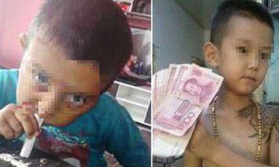 retrato-nino-imita-padres-juega-vender-cocaina