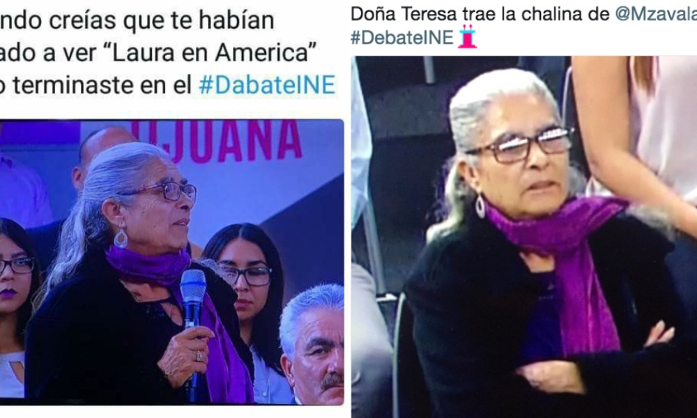 Memes senora Tere debate INE