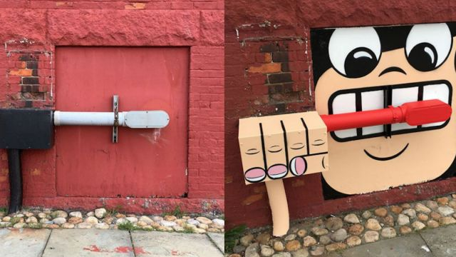Artista transforma los paisajes urbanos en obras creativas y divertidas