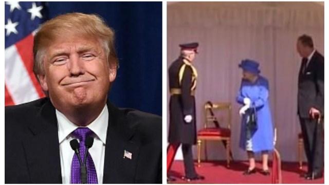 Donald Trump Deja esperando Reina Isabel