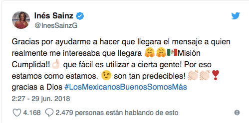 Inés Sainz, AMLO, Derechaira, Trolls
