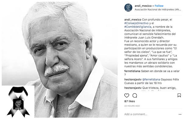 Fallece actor de 'El Señor de los Cielos'