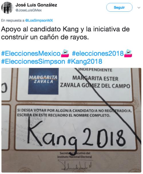 Voto en México por otros candidatos