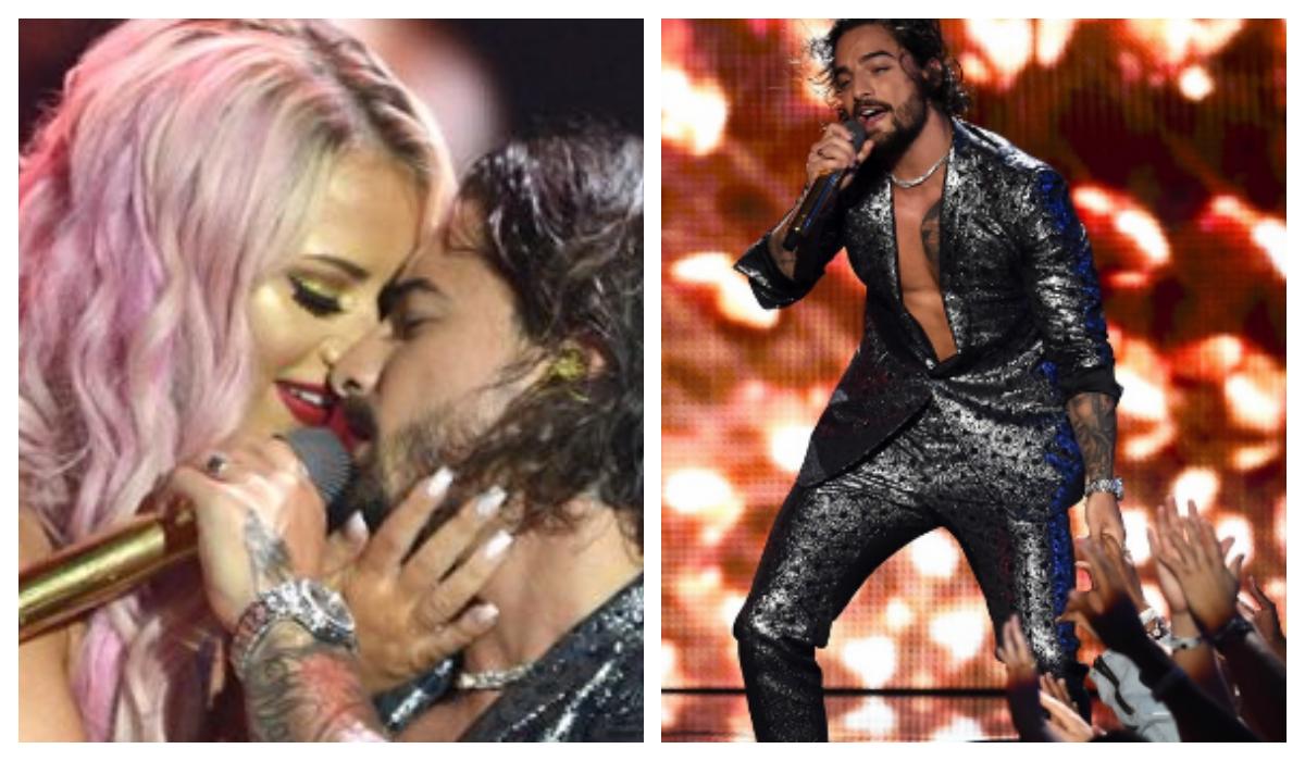 Incómodo beso Maluma bailarina MTV VMA