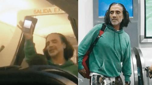 Alejandro fernandez borracho avión