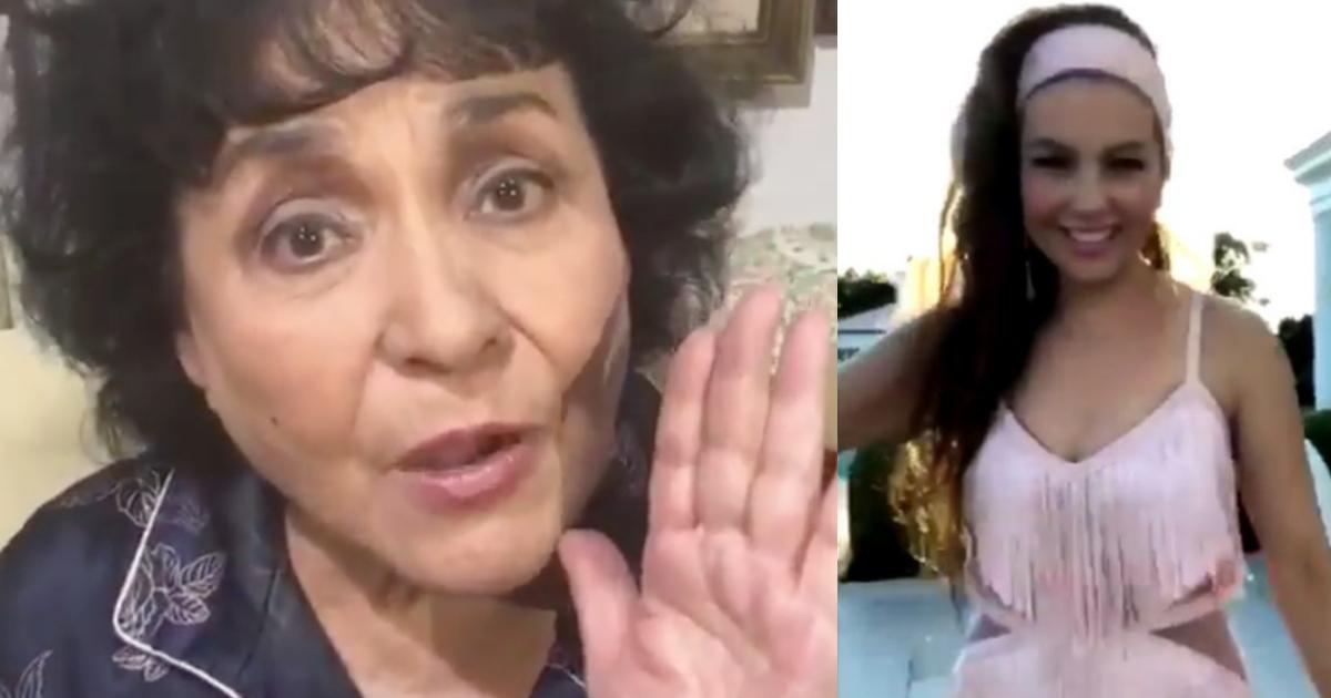 Carmen Salinas Thalía Challenge, Carmen Salinas Me Escuchan, Thalia Challenge, Thalia Me Escuchan, Carmen Salinas, Viral
