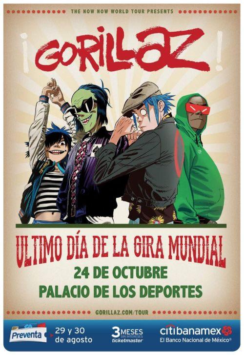 Gorillaz regresa a México