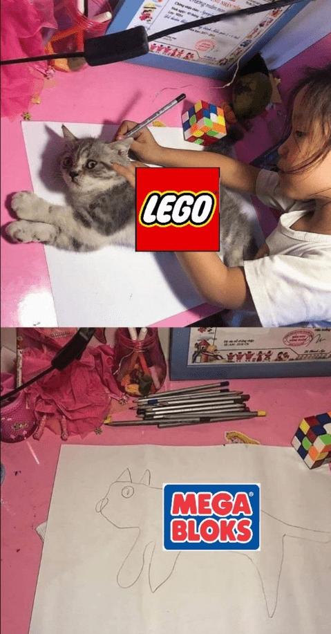 Memes del gatito calcado para sacar tu artista interior