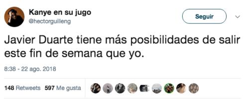 Modifican cargos contra Javier Duarte