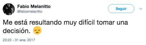Muerte Fabio melanitto tweets